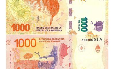 ¿Cómo son los billetes de 1000 pesos argentinos?